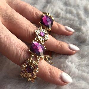 Stunning auth Napier gold & gemstone bracelet